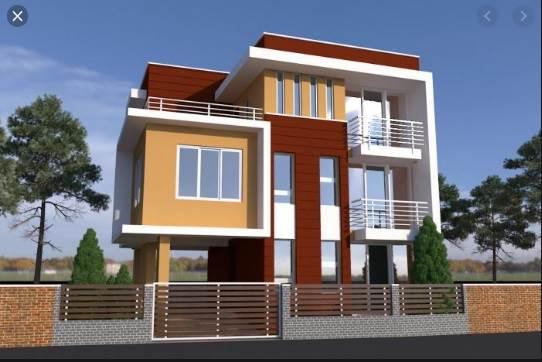 40x40 house 3d elevation design